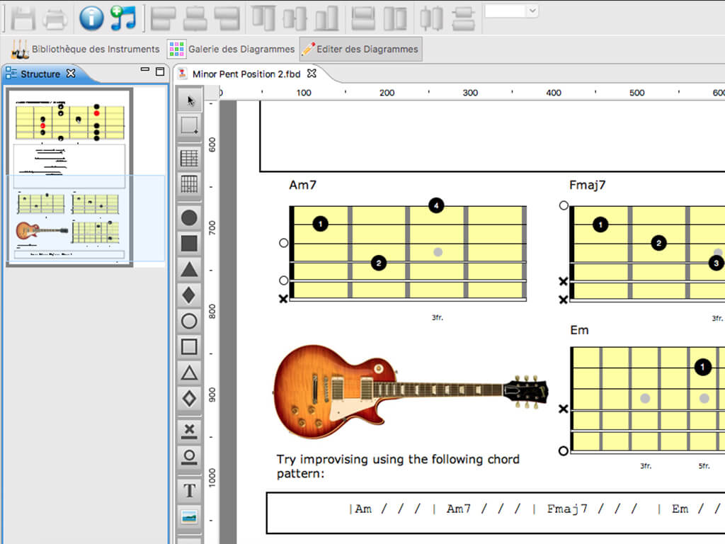 GuitarUp Neck Diagrams